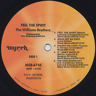Williams Brothers / Feel The Spirit label