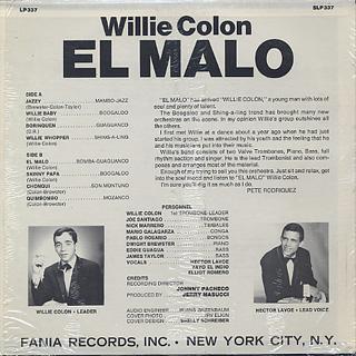 Willie Colon / El Malo back