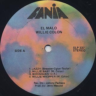 Willie Colon / El Malo label