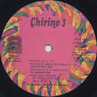 Willy Chirino / Chirino 3 label