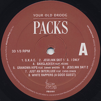 Your Old Droog / Packs label
