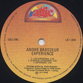 Andre Brasseur / Experience label