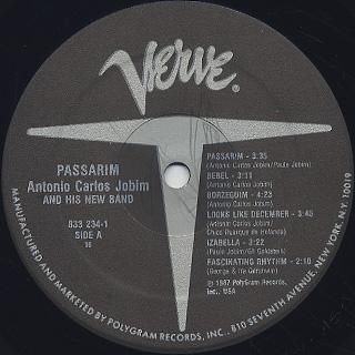 Antonio Carlos Jobim / Passarim label