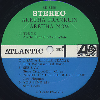 Aretha Franklin / Aretha Now label