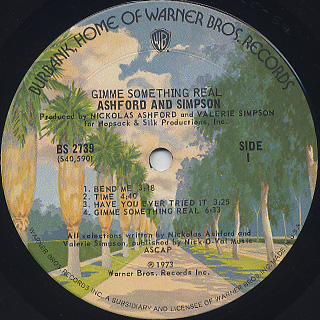 Ashford & Simpsons / Gimme Something Real label