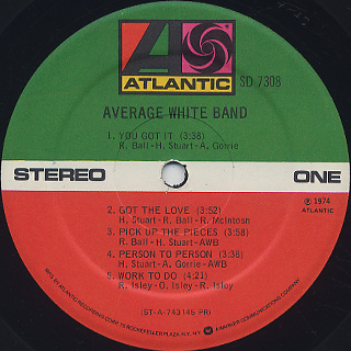 Average White Band / S.T. label