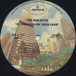 Bar-Kays / Flying HIgh On Your Love label