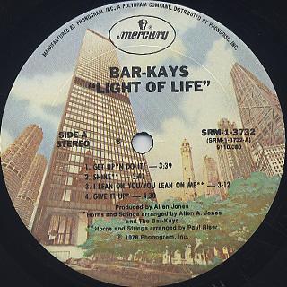 Bar-Kays / Light Of Life label