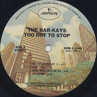 Bar-Kays / Too Hot To Stop label