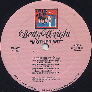 Betty Wright / Mother Wit label