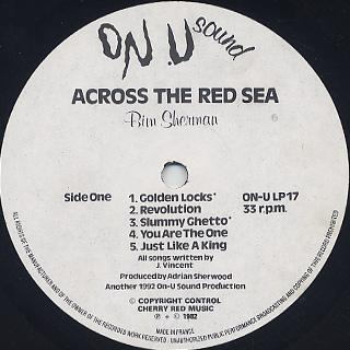 Bim Sherman / Across The Red Sea label