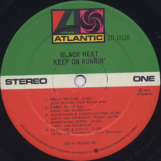 Black Heat / Keep On Runnin' label