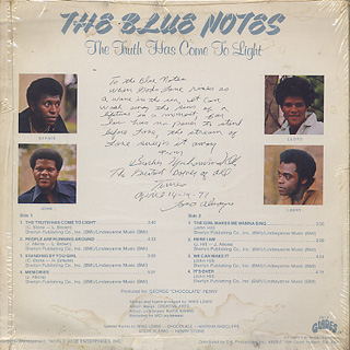Blue Notes / The Truth Has Come To Light back
