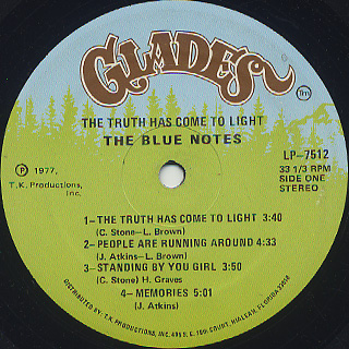 Blue Notes / The Truth Has Come To Light label