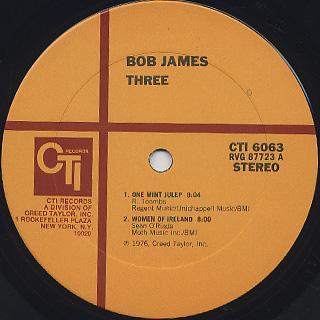 Bob James / Three label