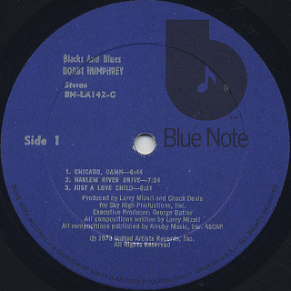 Bobbi Humphrey / Blacks And Blues label