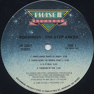 Bohannon / One Step Ahead label
