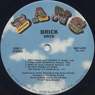 Brick / S.T. label