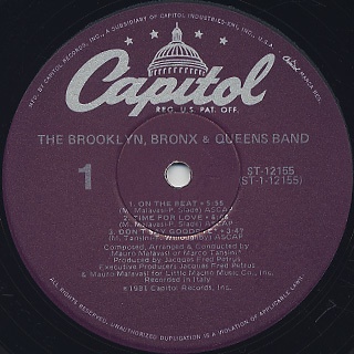 Brooklyn, Bronx & Queens Band / S.T. label