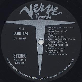 Cal Tjader / In A Latin Bag label
