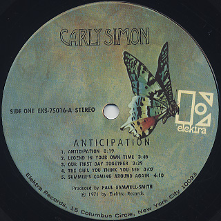 Carly Simon / Anticipation label