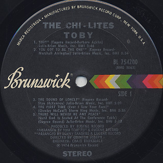 Chi-Lites / Toby label