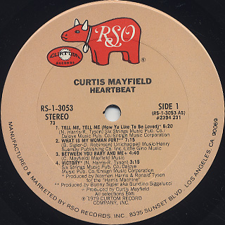 Curtis Mayfield / Heartbeat label