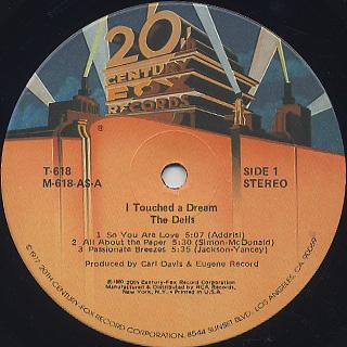 Dells / I Touched A Dream label