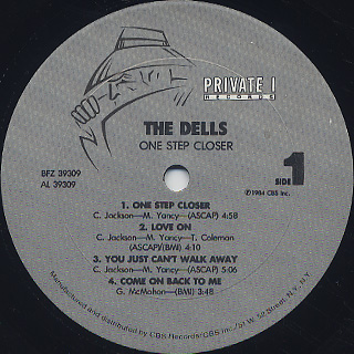 Dells / One Step Closer label
