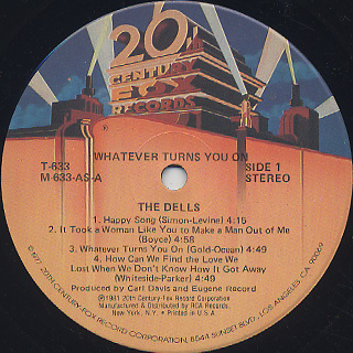 Dells / Whatever Turns You On label
