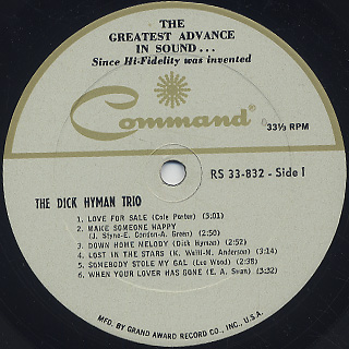Dick Hyman And His Trio / The Dick Hyman Trio label