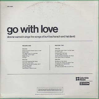 Dionne Warwick / Go With Love back