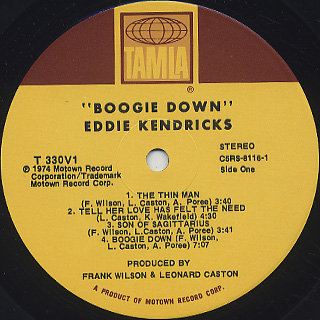 Eddie Kendricks / Boogie Down label