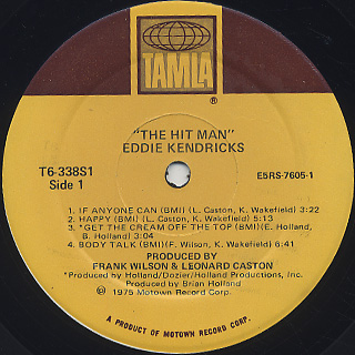 Eddie Kendricks / The Hit Man label