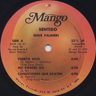Eddie Palmieri / Sentido label