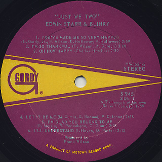 Edwin Starr & Blinky / Just We Two label