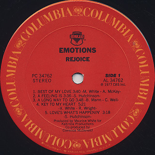 Emotions / Rejoice label