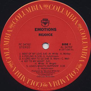 Emotions / Rejoice label