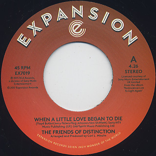 Friends Of Distinction / When A Little Love Began To Die