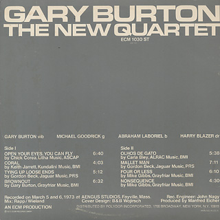 Gary Burton / The New Quartet back