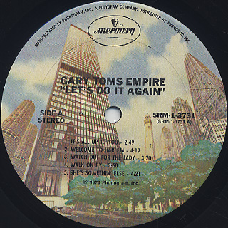 Gary Toms Empire / Let's Do It Again label