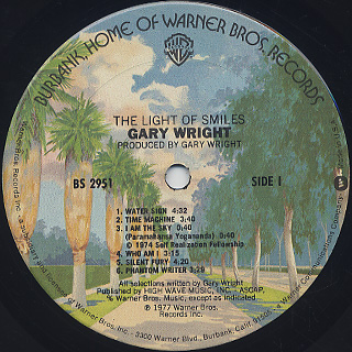 Gary Wright / The Light Of Smiles label