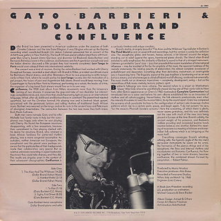 Gato Barbieri & Dollar Band / Confluence back