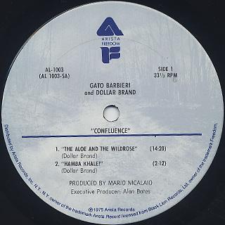 Gato Barbieri & Dollar Band / Confluence label