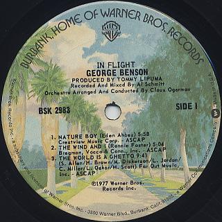 George Benson / In Flight label