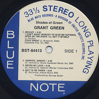 Grant Green / Shades Of Green label