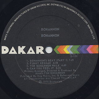 Hamilton Bohannon / Bohannon label