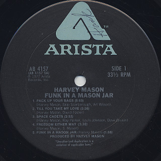 Harvey Mason / Funk In A Mason Jar label