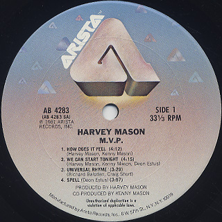 Harvey Mason / M.V.P. label