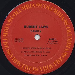 Hubert Laws / Family label